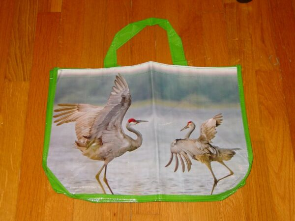 Alarm Sandhill Cranes Tote Bag Tnc Nature Conservancy New 17 X 12 X 6 Inches