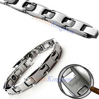 Mens Magnetic Tungsten Carbide Sports Golf Bracelet