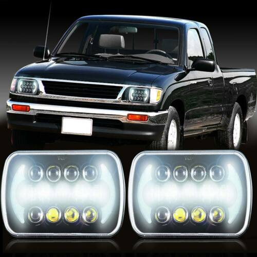 7x6 LED Black Projector for Toyota Pickup Headlights CREE Sealed Beam Headlamps