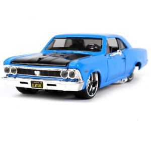 Maisto 1:24 1966 Chevrolet Chevelle SS 396 Metal Model Car New in Box Blue