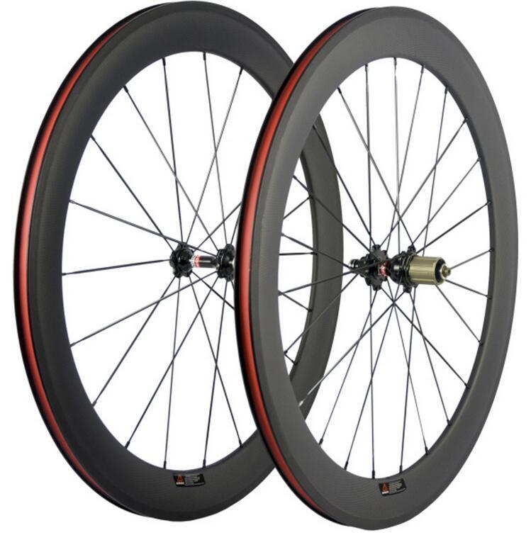 UK Road Bike Wheelset A271SB F372SB Hubs 60mm Clincher 25mm Width Carbon Wheels