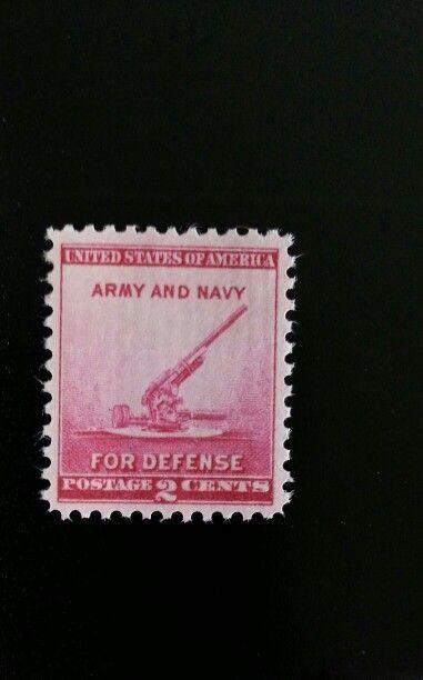 1940 2c Defense, Anti-Aircraft Gun, Army & Navy Scott 9