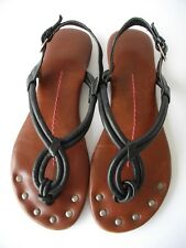 b8be07dbd72 Dolce Vita black leather corded loop studded foot bed accent unique sandal  6M