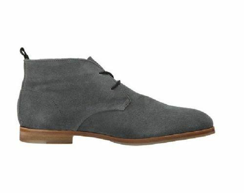 botas para hombre hecho a mano de cuero Gamuza gris Chukka Zapatos informales de moda ropa formal