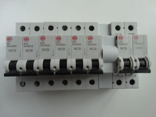 Wylex NHX mcb Circuit Breaker 6A 16A 20A 32A 40A 50A PSB32-C PSB32-B EN60898