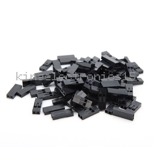 500Pcs 2.54mm 2P Pitch Dupont Jumper Wire Cable Housing Female Pin Connector T