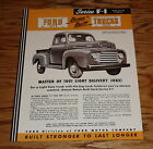 1949 Ford Truck F-1 Series Sales Brochure 49 Pickup