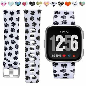 Fitbit-Versa-Wristband-with-Puppy-Paw-Print-SMALL-Free-Charger