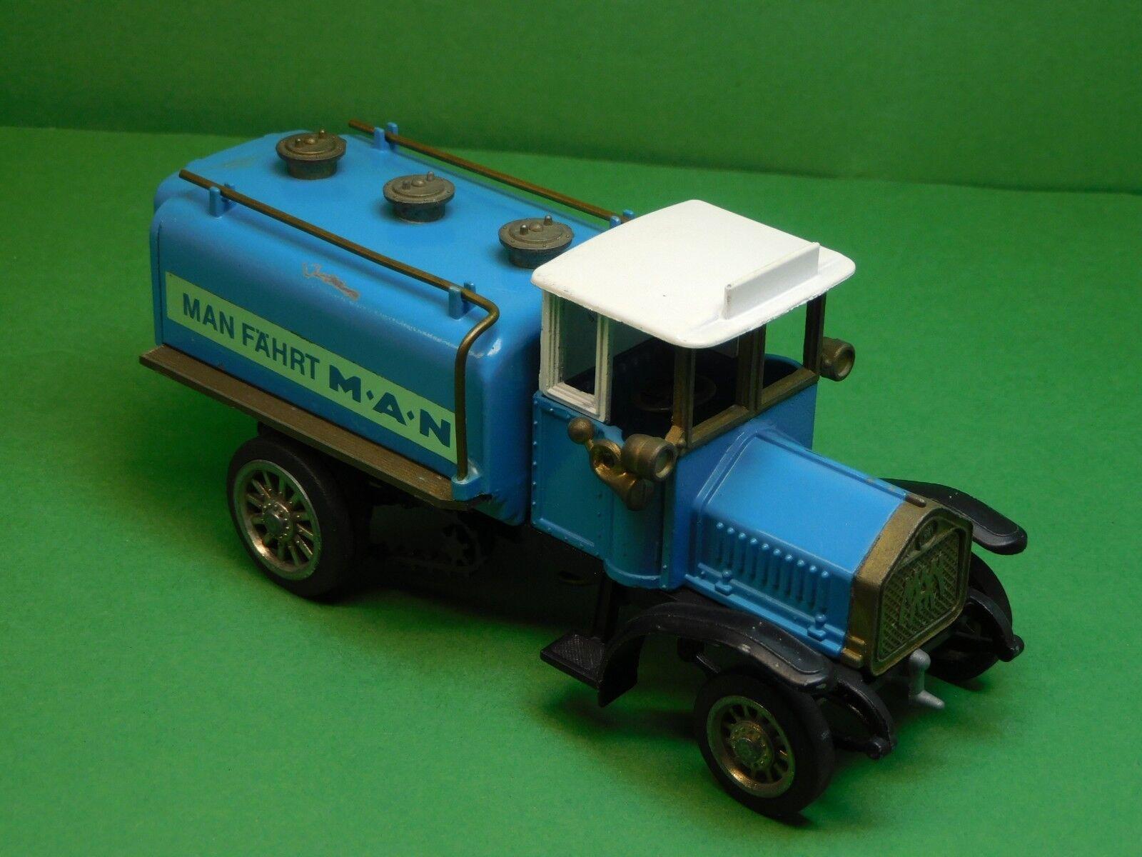 MAN fährt MAN erster Diesel Lastwagen 1923 24 Tankwagen Ziss Modell 1 43 N°305  | Ausgang