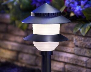 Details About Moonrays 97171 Low Voltage Plastic 2 Tier Path Light 4 Watt Black