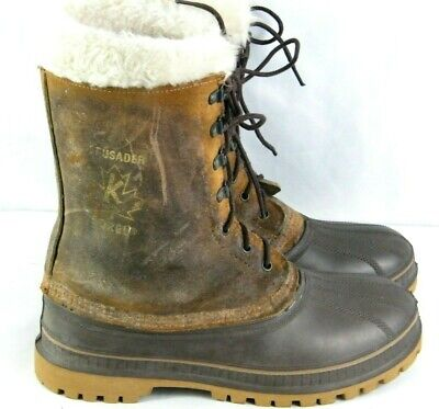 Sorel kaufman Vintage Steel Toe Safety Wool Lined Winter