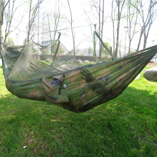 Camping Double Person Travel Outdoor Tent Hanging Hammock Bed With Mosquito Net、
