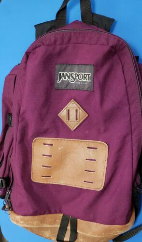 1990s JANSPORT black backpack daypack CLASSIC lightweight hiking biking bag