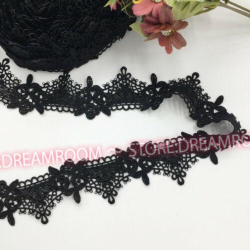 B247 Crochet Lace Trim Wedding Ribbon Applique Dress Sewing Decor Crafts 1 Yard