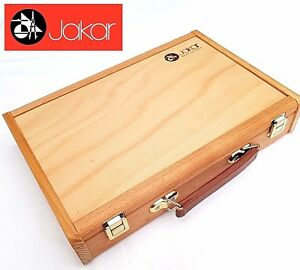 Jakar-Wooden-Art-Sketch-Box-Carry-Storage-Case-Beechwood-Chest-Dividers-Palette