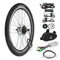 Electric Bicycle Conversion Kit 250w 36v E Bike Motor Speed Brake 26 Rear Wheel
