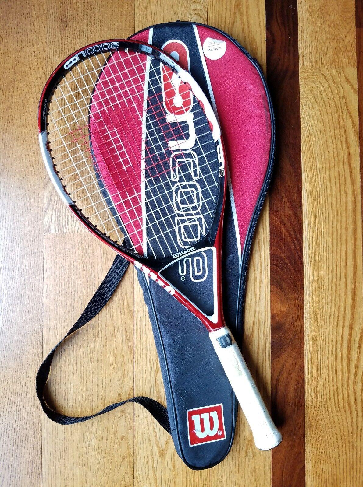 Wilson Ncode N5 Oversize Tennis Racquet Grip 4 3/8 w/case OUTSTANDING CONDITION