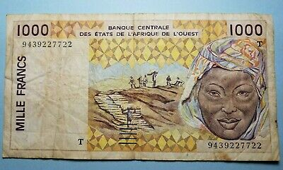 P-811Tl 2002 West African States Togo 1000 Francs banknote UNC