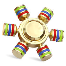 Tri Fidget Hand Spinner Triangle Brass Metal Colorful Finger Toy EDC Focus ADHD