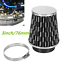 """3/"""" Racing Carbon Fiber Cold Feed Induction Kit Air Intake Kit Air Filter Cone"""
