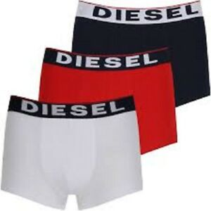 Men's Clothing Diesel 3 Pack The Seasonal Boxer Trunks Mens Underwear Shorts Stretch Cotton Clothes, Shoes & Accessories