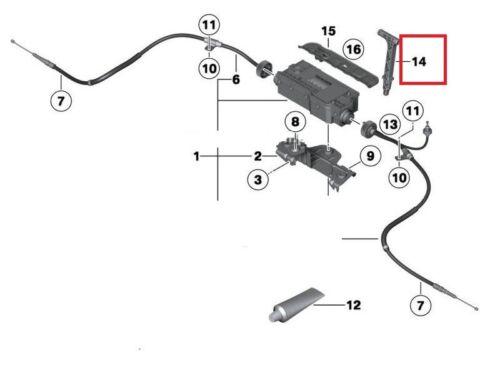 BMW neuf origine X5 X6 Urgence Frein De Stationnement Poignée de largage 7590395