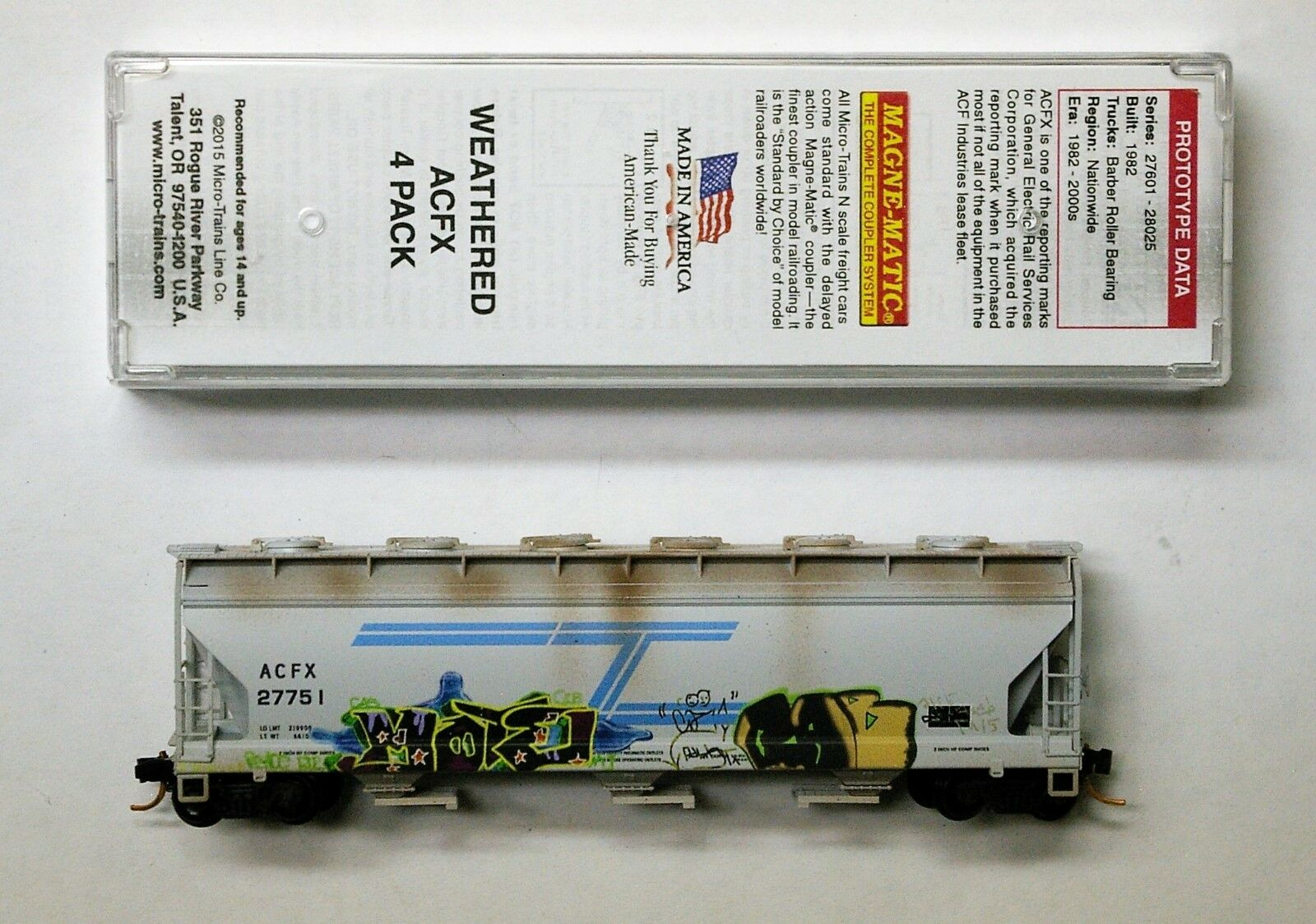 MTL Micro-Trains 93090 ACFX 27751, 27831 or 27857  FW Factory Weathered