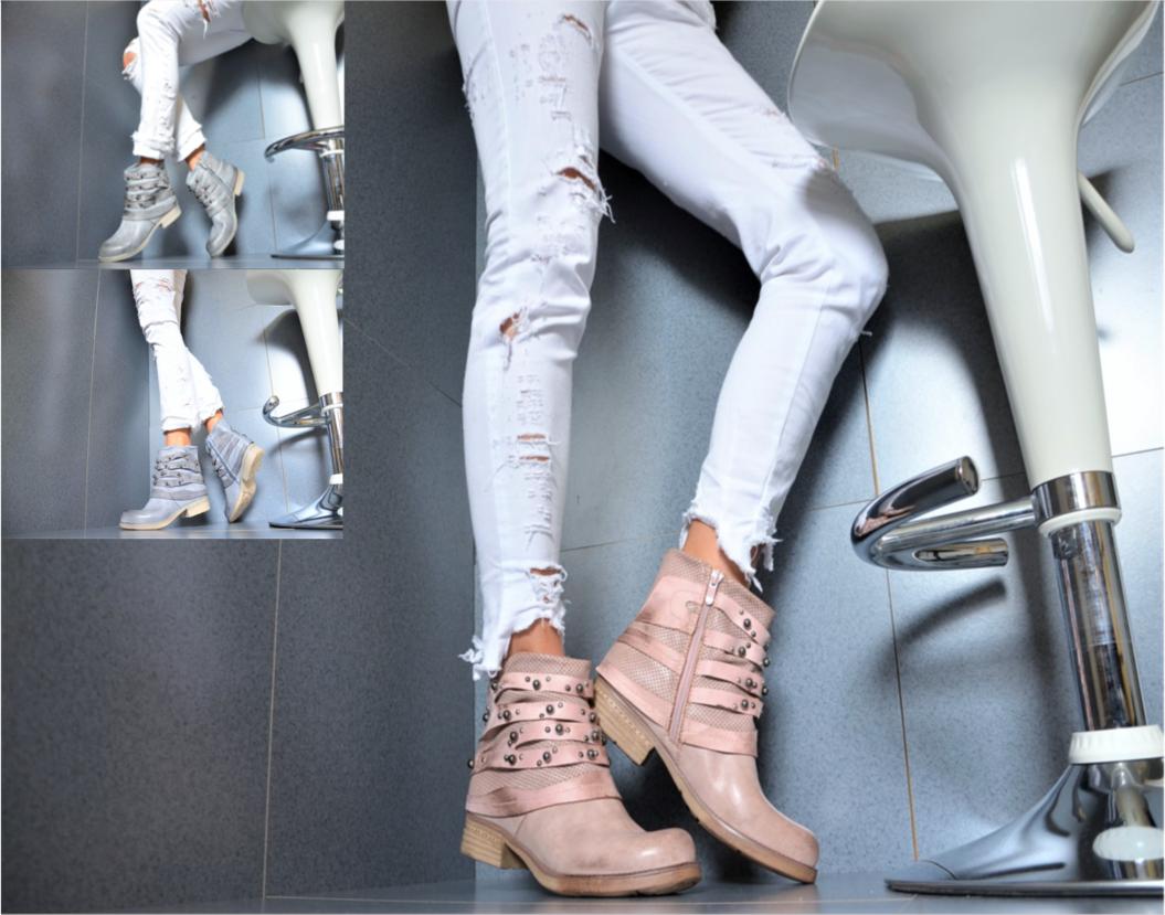 Star Falda Diseñador  Botines zapatos  Mujer Biker botas Botines  Gris 36/41 fc184c