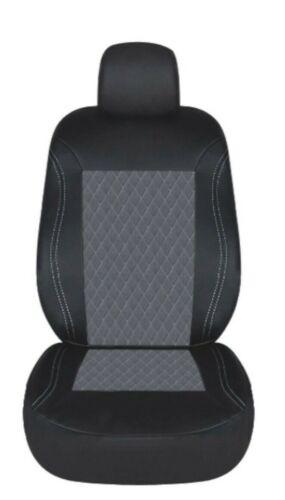 4 Pcs Vauxhall Opel Front Grey Black Diamond Stitch Soft Fabric Car Seat Covers