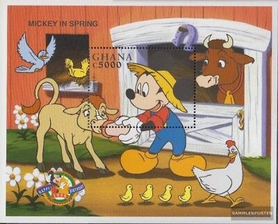 Never Hinged 1998 Walt-disney-f Spare No Cost At Any Cost Original Ghana Block356 Unmounted Mint complete Issue