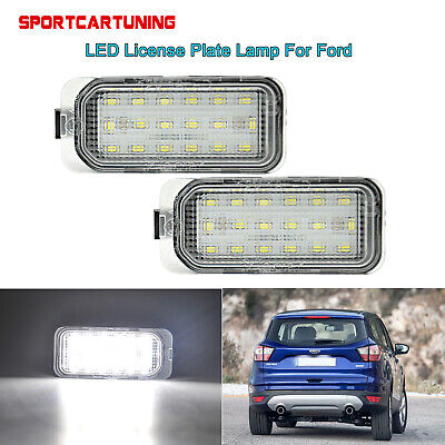 12V Pair 24 LED Rear Number License Plate Light Lamp For Ford Fiesta Focus New