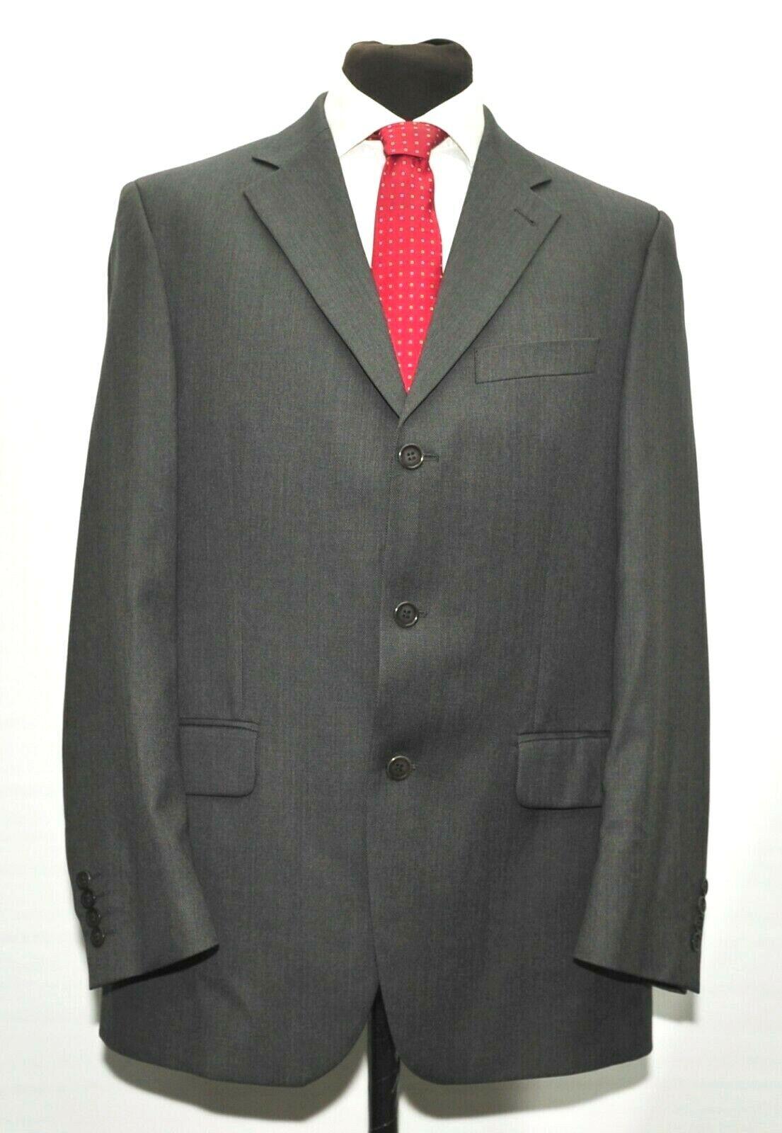 Men's Clothing Clothing, Shoes & Accessories Mens 44l Pal Zileri 2 Piece Grey/black Stripe 100% Wool Suit Complete Range Of Articles