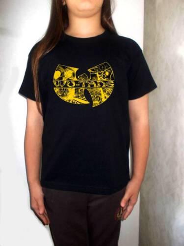 WU TANG CLAN t-shirt BLACK wu tang shirt for children clothing kid toddler