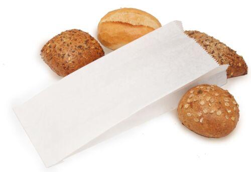 1000 Bäckerfaltenbeutel Faltenbeutel weiß 16+7x35cm 427 Bäckerbeutel Papiertüten