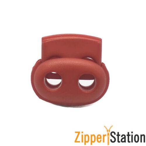 9 Colores Inc Negro y Rojo Cerradura de doble Tapón de cable final alterna con resorte de metal