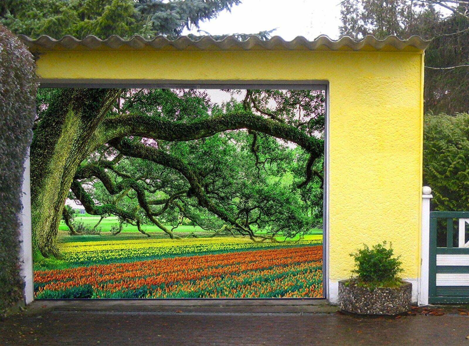3D Trees, garden Garage Door Murals Wall Print Decal Wall Deco AJ WALLPAPER UK