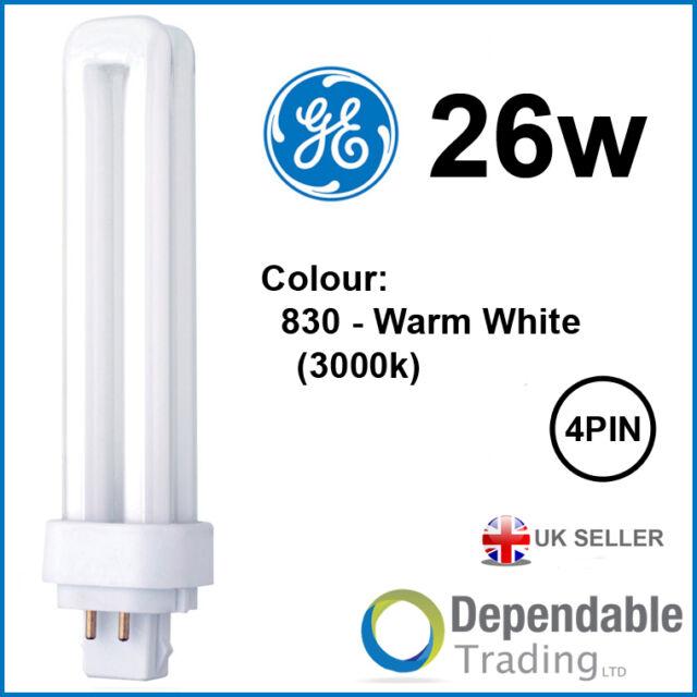 Ge Lighting Lampara Biax D E 26 W G24q 3 2700 K Energy Cl B