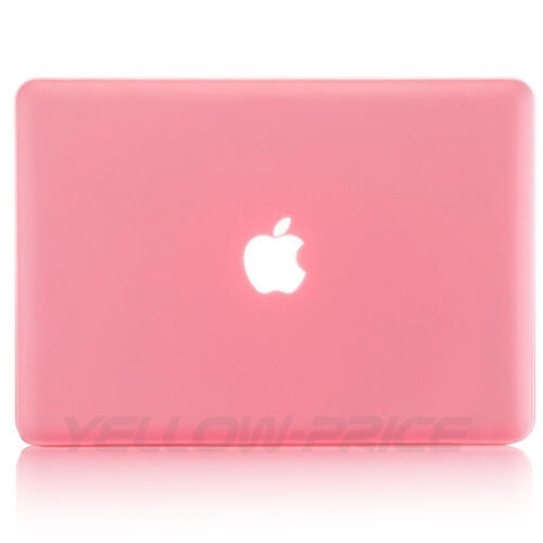 Pink 13 Macbook Pro w//Retina Soft Touch Hard Case Sleeve Bag Film Keyboard Cover