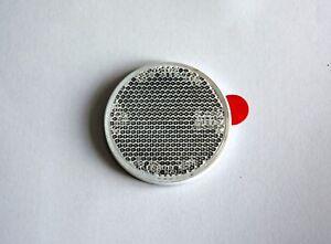 Universel-Reflecteur-il-de-Chat-Blanc-Remorque-Vehicule-Personnel-Rond-60mm