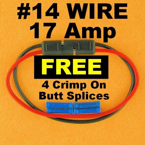 """14 Gauge 12/"""" Inch Quick Connect Disconnect SAE Wire Harness 2 Pin Polarized 12V"""