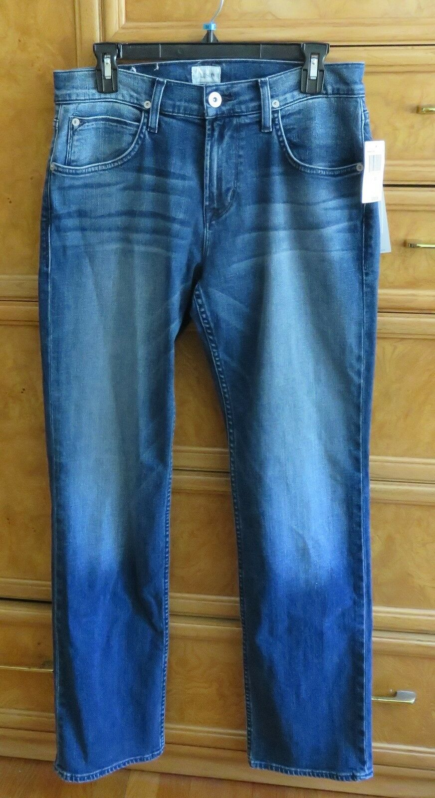 Men's Hudson wilde straight leg relaxed bluee jeans size 30x33 brand new NWT