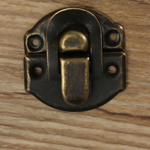 12X antique décoratif Bijoux Cadeau Vin Boîte En Bois Hasp Latch Lock Newest