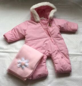 0e71891d9 Image is loading EUC-ARCTIX-Infant-Pink-One-Piece-Hooded-Bunting-