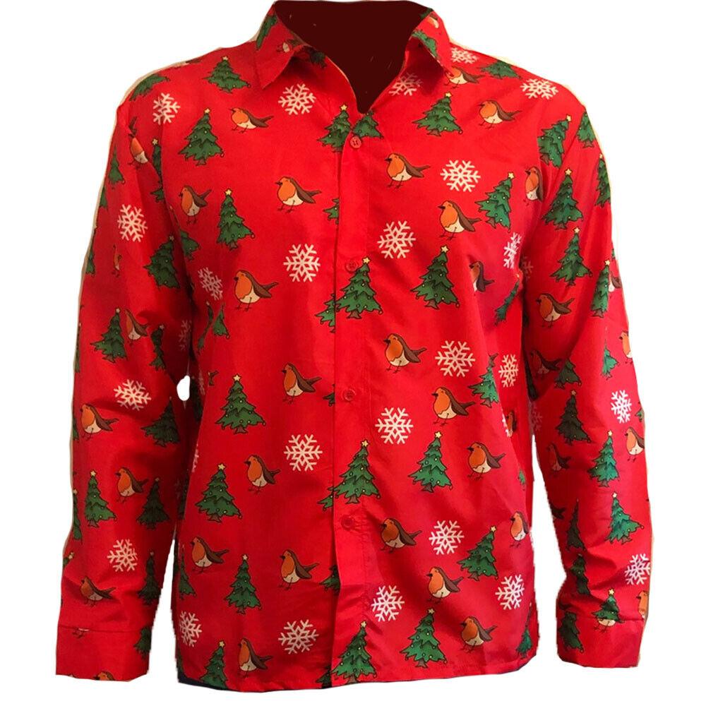 RED ROBINS CHRISTMAS SHIRT