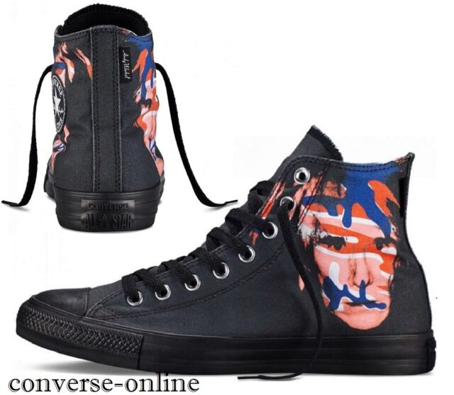 4c730b75fed7 Women s Men s CONVERSE All Star WARHOL BLACK HIGH TOP Trainers Boots SIZE UK  3.5