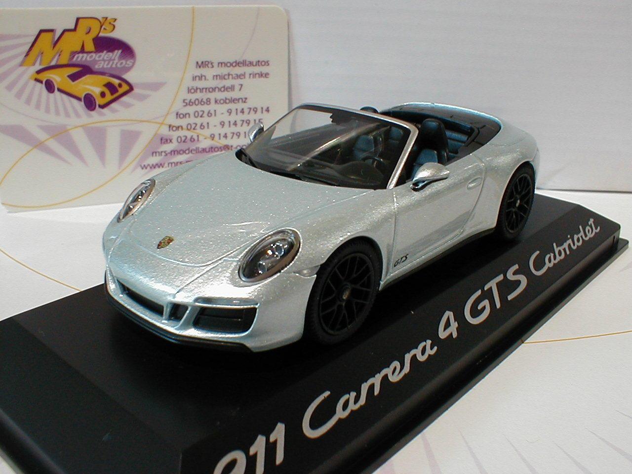 Herpa WAP0201040H     Porsche 911 Carrera 4 GTS Cabrio Bj. 2016 silber-met. 1 43 17c6ca