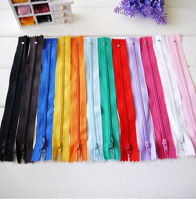 3PCS 20CM Zippers for purse or bags manufacture 12 Colour