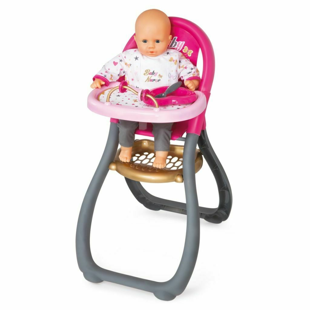Smoby Baby Nurse High Chair Chair Chair Toy Doll Seat Role Play Game Kids Learning 220310 ee23e3