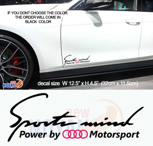 SPORTS MIND VINYL STICKER DECAL POWER BY AUDI MOTORSPORT