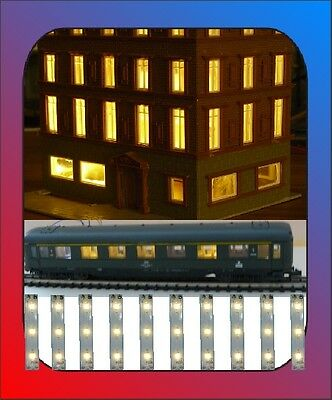 10 X Led Illuminazione Casa Illuminazione Edificio Marciapiedi 50x8 Mm Smd Bianco Caldo Chiaro-g Gebäudebeleuchtung Bahnsteig 50x8 Mm Smd Warmweiß Hell It-it Mostra Il Titolo Originale Ulteriori Sorprese